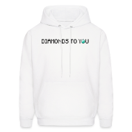 Hoodies ~ Men's Hoodie ~ Diamonds To You! Hoodie. The Minecraft Monday Show