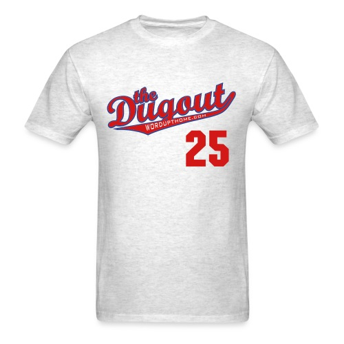 WordUpThome #25 (Jim Thome) Phillies Dugout T (Ash) - Men's T-Shirt