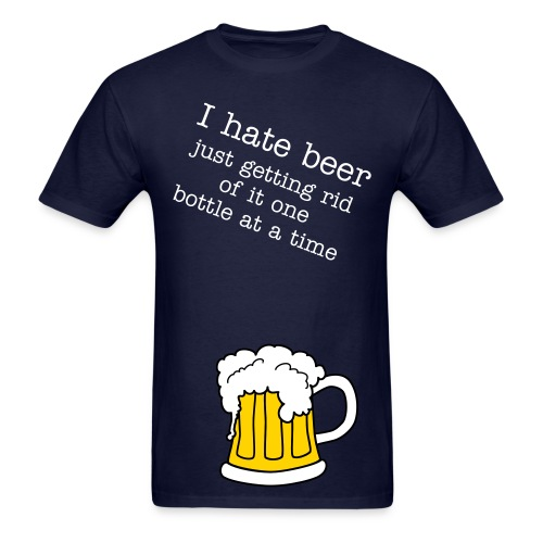 I hate beer - Men's T-Shirt
