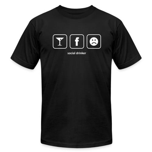 Social Drinker - Men - Men's Fine Jersey T-Shirt