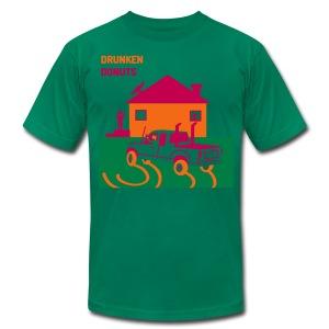 Drunken Donuts - Dunkin Donuts Parody Mens T-Shirt - Men's Fine Jersey T-Shirt