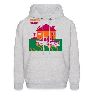 Drunken Donuts - Dunkin Donuts Parody Mens Hoody - Men's Hoodie