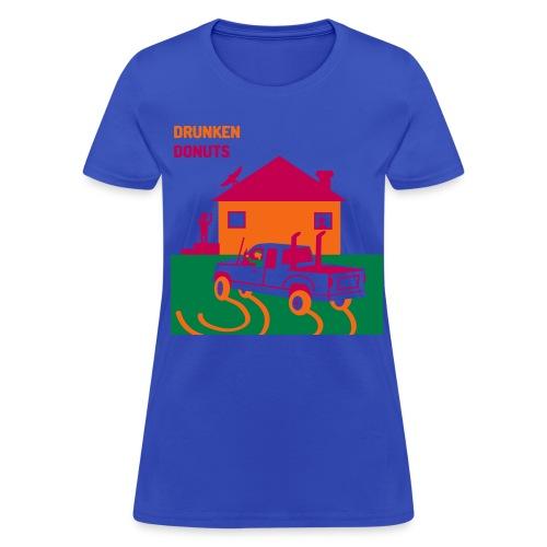 Drunken Donuts - Dunkin Donuts Parody Womens T-Shirt - Women's T-Shirt