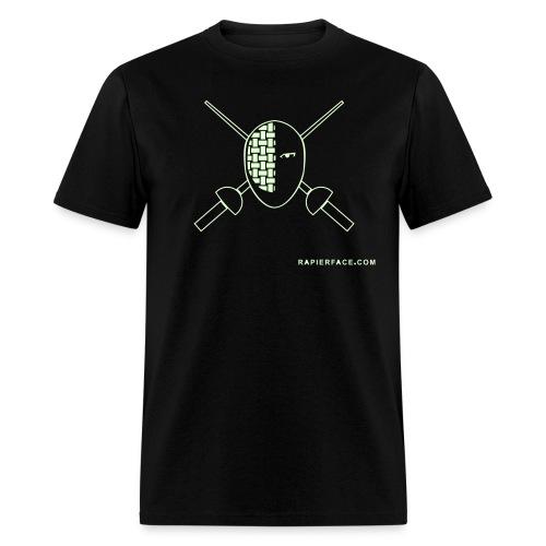 RapierFace Fencing Gear GLOW - Men's T-Shirt