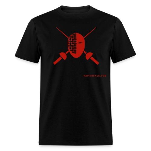 RapierFace Fencing Gear Red Shimmer - Men's T-Shirt