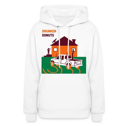Drunken Donuts - Dunkin Donuts Parody Womens Hoody - Women's Hoodie