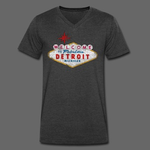 Welcome Fabulous Detroit - Men's V-Neck T-Shirt by Canvas