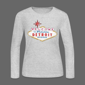 Welcome Fabulous Detroit - Women's Long Sleeve Jersey T-Shirt