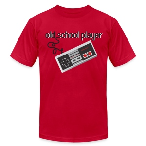 Vintage Gamer T-shirt Old School Player - Men's T-Shirt by American Apparel