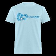 T-Shirts ~ Men's T-Shirt ~ mvyradio Blue Lobster Guitar