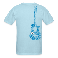 T-Shirts ~ Men's T-Shirt ~ mvyradio Blue Lobster Guitar - vertical