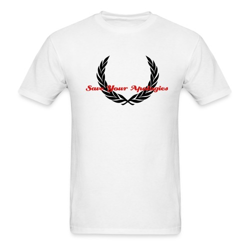 SaveYourApologies CrestWhite - Men's T-Shirt