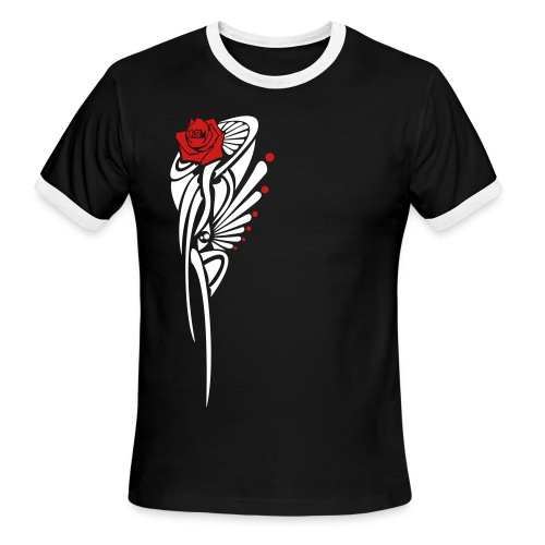 Tribal Rose  - Men's Ringer T-Shirt
