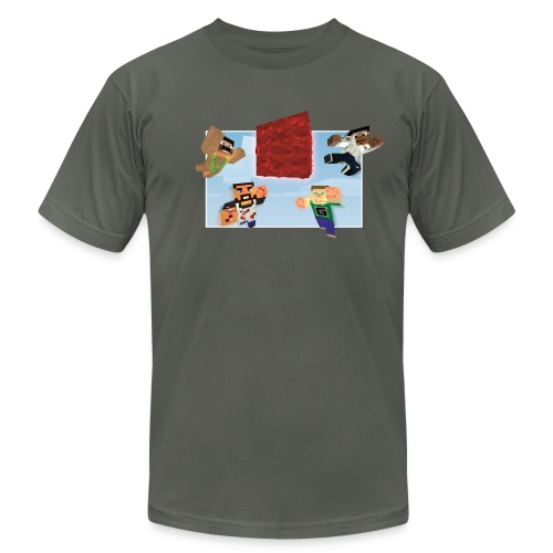 Men's Mindcrack 'Race for the wool' team American Apparel T-shirt - Men's Fine Jersey T-Shirt