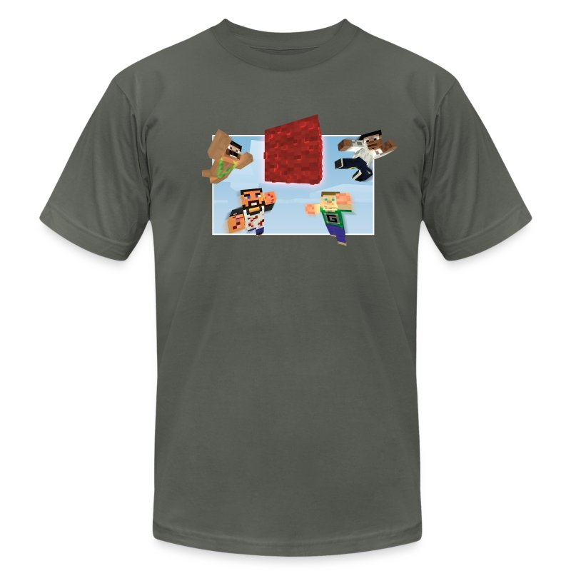 Men's Mindcrack 'Race for the wool' team American Apparel T-shirt - Men's T-Shirt by American Apparel