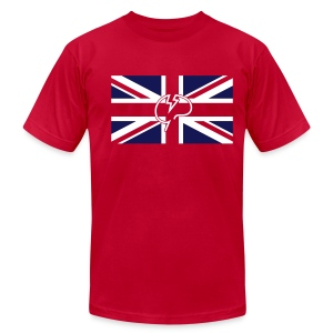 Men's flock Mindcrack Union Jack- American Apparel T-shirt - Men's Fine Jersey T-Shirt