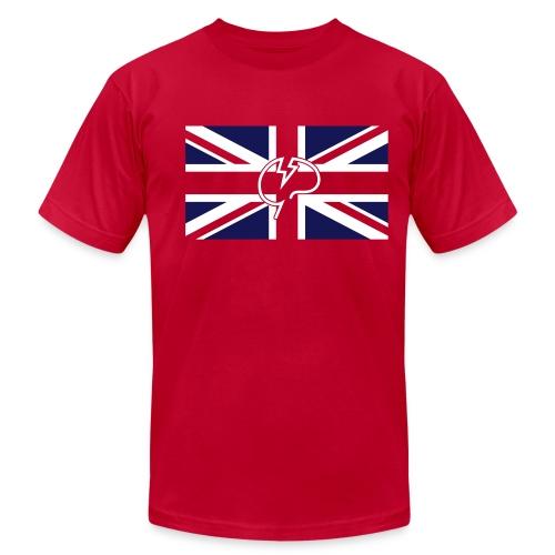 Men's flock Mindcrack Union Jack- American Apparel T-shirt - Men's Fine Jersey T-Shirt
