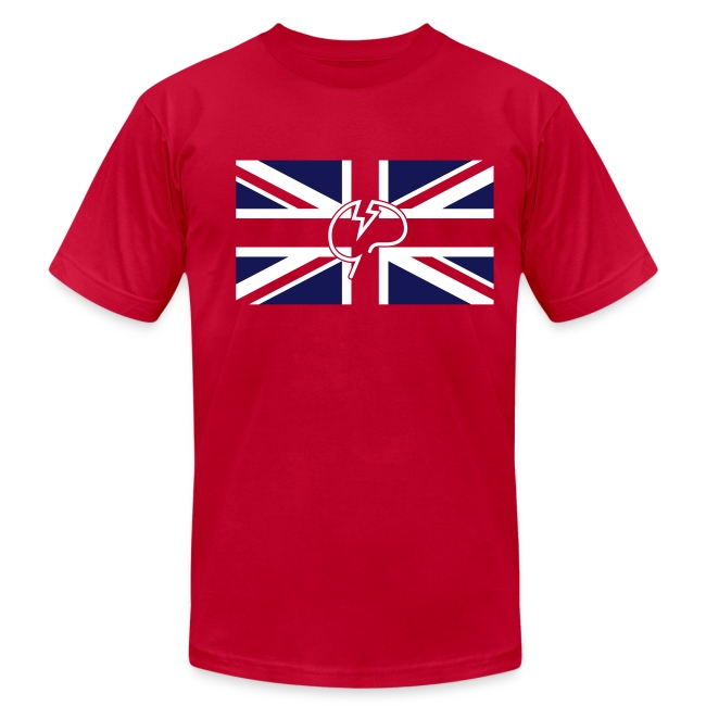 Men's flock Mindcrack Union Jack- American Apparel T-shirt