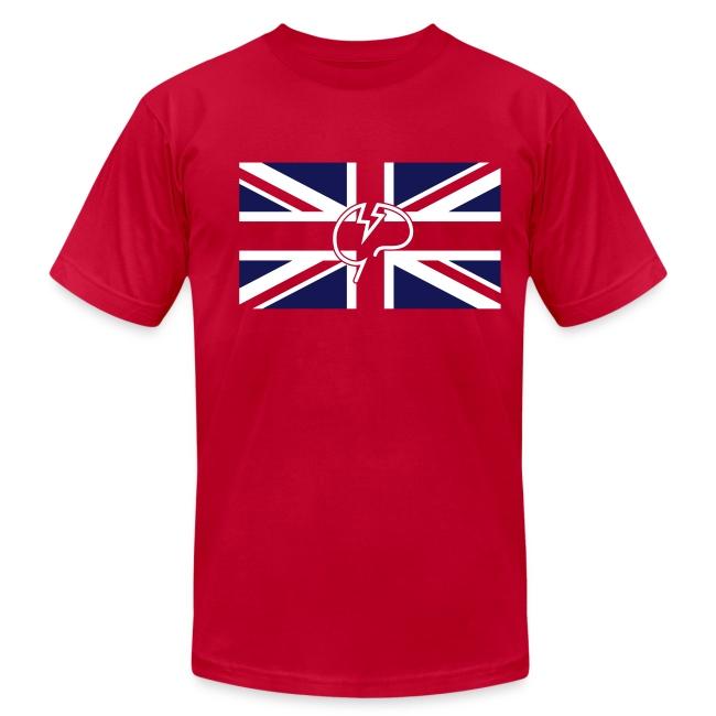 Men's flock Mindcrack Union Jack- American Apparel T-shirt