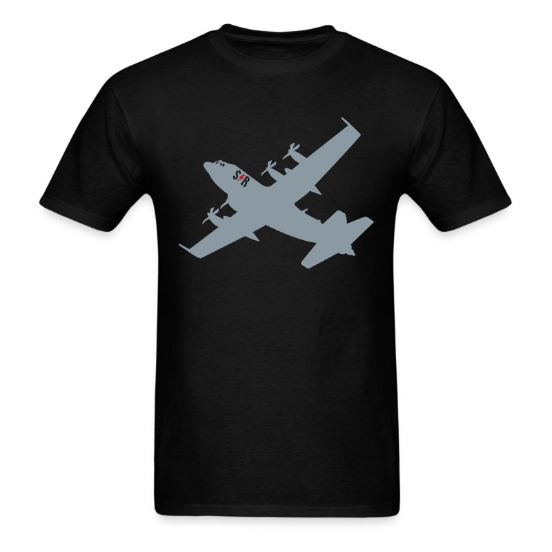 Large AC-130 Black - Men's T-Shirt