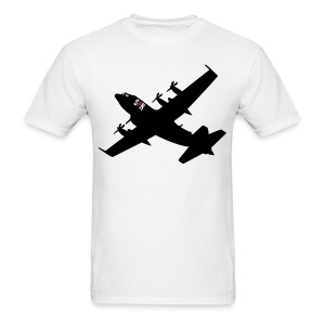 Large AC-130 White - Men's T-Shirt