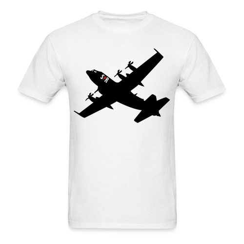 Large AC-130 White - Men's T-Shirt