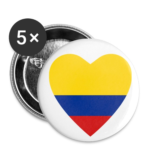 colombian heart pin - Small Buttons