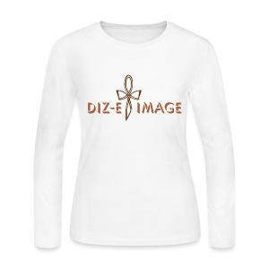 Diz-E Image White Long Sleeve Tee  - Women's Long Sleeve Jersey T-Shirt