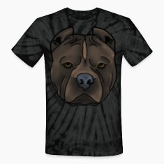 Pitti Pitbull head with many details T-Shirts