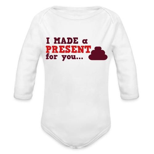 present - Organic Long Sleeve Baby Bodysuit