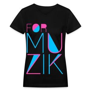 [4MIN] For Muzik - Women's V-Neck T-Shirt