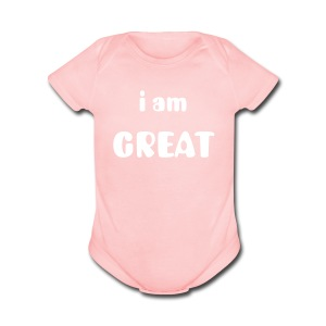 Baby Great [Baby Series] - Short Sleeve Baby Bodysuit