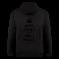 Zip Hoodies & Jackets ~ Men's Zip Hoodie ~ Mens Zip Hoodie: Jaffa Cakes/Diggy Holes