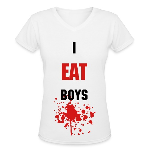 Jennifer's Body I Eat Boys - Women's V-Neck T-Shirt