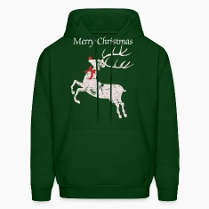 Vintage Christmas Rudolph the red nose Reindeer Hoodies