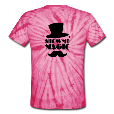 SHOW ME MAGIC top hat and moustache T-Shirts