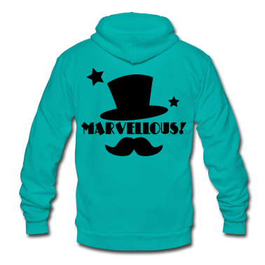 marvellous! Top hat and mustache Zip Hoodies/Jackets