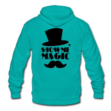 SHOW ME MAGIC top hat and moustache Zip Hoodies/Jackets