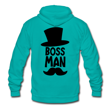 BOSS MAN moustache Zip Hoodies/Jackets