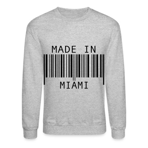 Crewneck Sweatshirt - miami,made in miami,made,crewneck,barcode