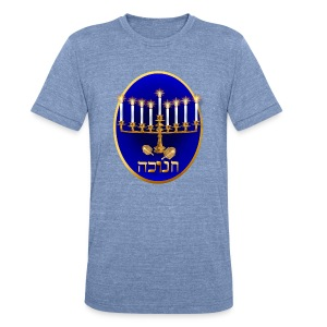 Golden Hanukkah Oval - Unisex Tri-Blend T-Shirt by American Apparel