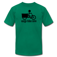 T-Shirts ~ Men's T-Shirt by American Apparel ~ Madsen Cargo Bike Love