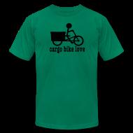 T-Shirts ~ Men's T-Shirt by American Apparel ~ Madsen Cargo Bike Love