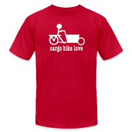 T-Shirts ~ Men's T-Shirt by American Apparel ~ Bakfiets Cargo Bike Love