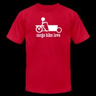 T-Shirts ~ Men's T-Shirt by American Apparel ~ Bakfiets Cargo Bike Love
