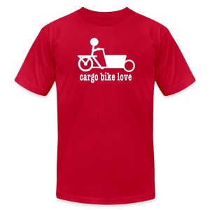 Bakfiets Cargo Bike Love - Men's T-Shirt by American Apparel