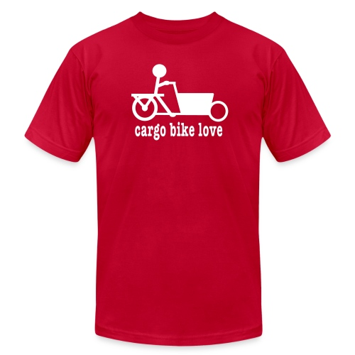 Bakfiets Cargo Bike Love - Men's Fine Jersey T-Shirt