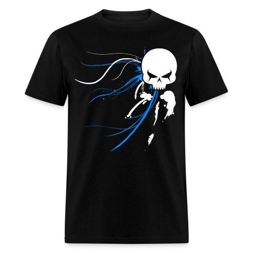 Cyber Skull Graffiti - Men's T-Shirt