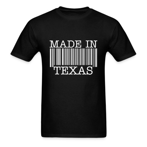 Made in Texas Barcode - Men's T-Shirt
