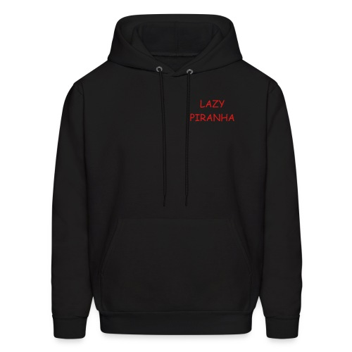 Men's Black Hoodie with Red Lettering - Men's Hoodie